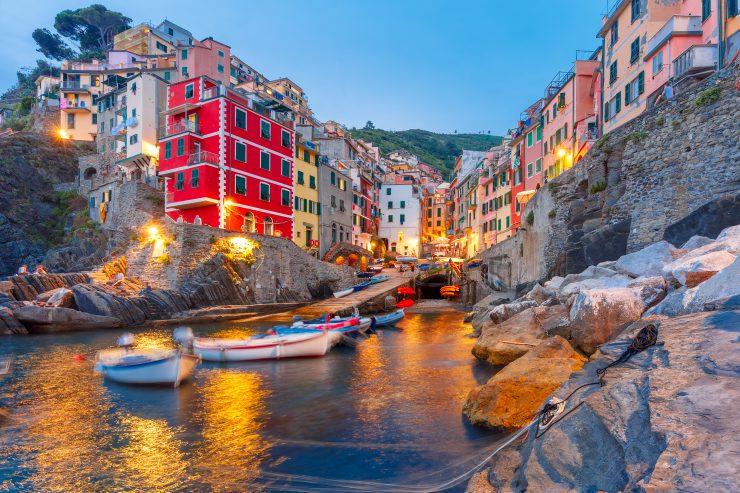 شهر تپه ای سینک تر در ایتالیا