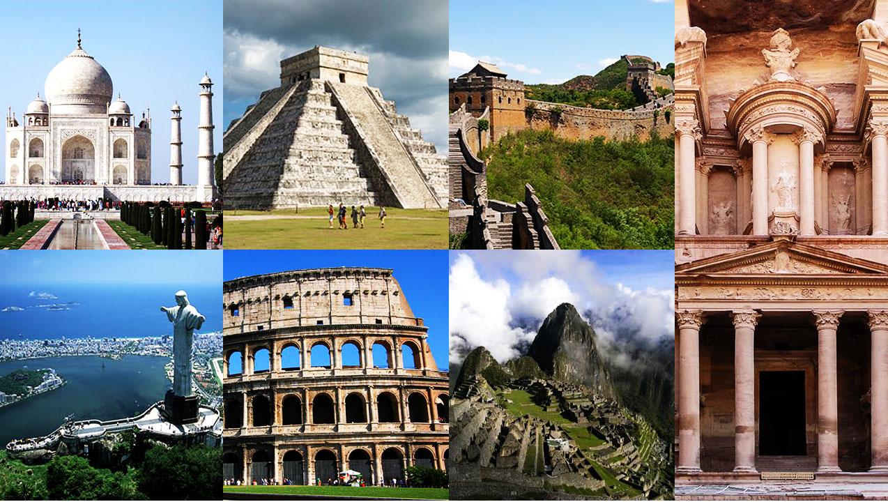 گردشگری جهان - عجایب 10 گانه ی جهان - حمام رومی - کولوسیوم - دیوار بزرگ چین - چیچن ایتزا - ماچوپیچو - ایاصوفیا - تندیس کریستو رندنتور - پترا  - برج پیزا -  تاج محل