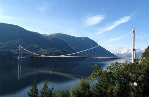 نروژ-پل معلق-گردشگری نروژ-جاذبه های توریستی نروژ-نروژ-سفر به نروژ-Hardanger Bridge
