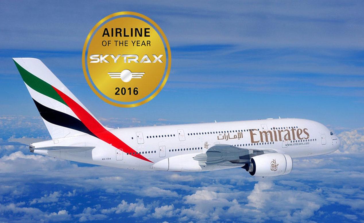 شرکت های هواپیمایی - خط هواپیمایی - اسکای ترکس - نظرسنجی 2016 از مسافران هوایی -  جوایز برترین خطوط هواپیمایی جهان در سال 2016 - هواپیمایی امارات
