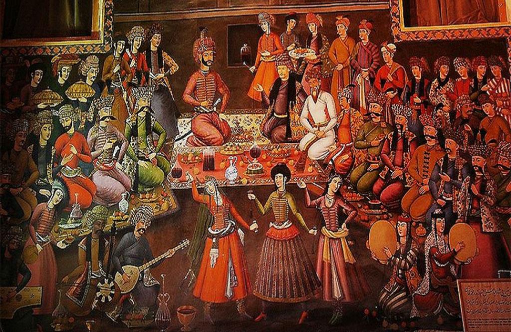 مراسم پذیرایی شاه عباس دوم از ندر محم خان،