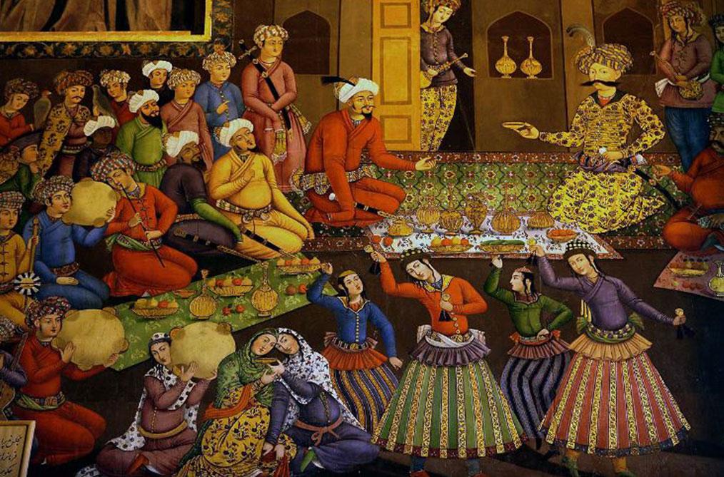 مجلس پذیرایی شاه عباس اول از ولی محمد خان ازبک