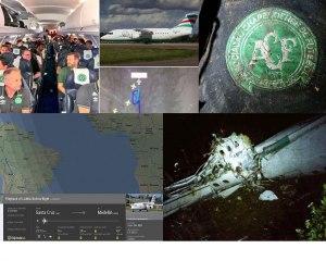 سقوط هواپیمای حامل فوتبالیست های برزیلی در کلمبیا