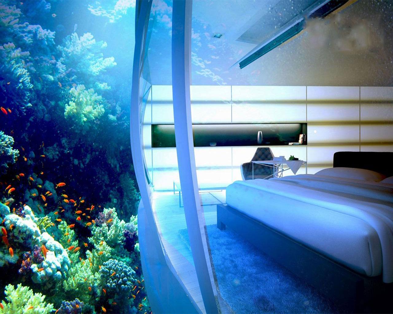 در لوکس ترین هتل های زیر آب منار ماهی ها بخوابید