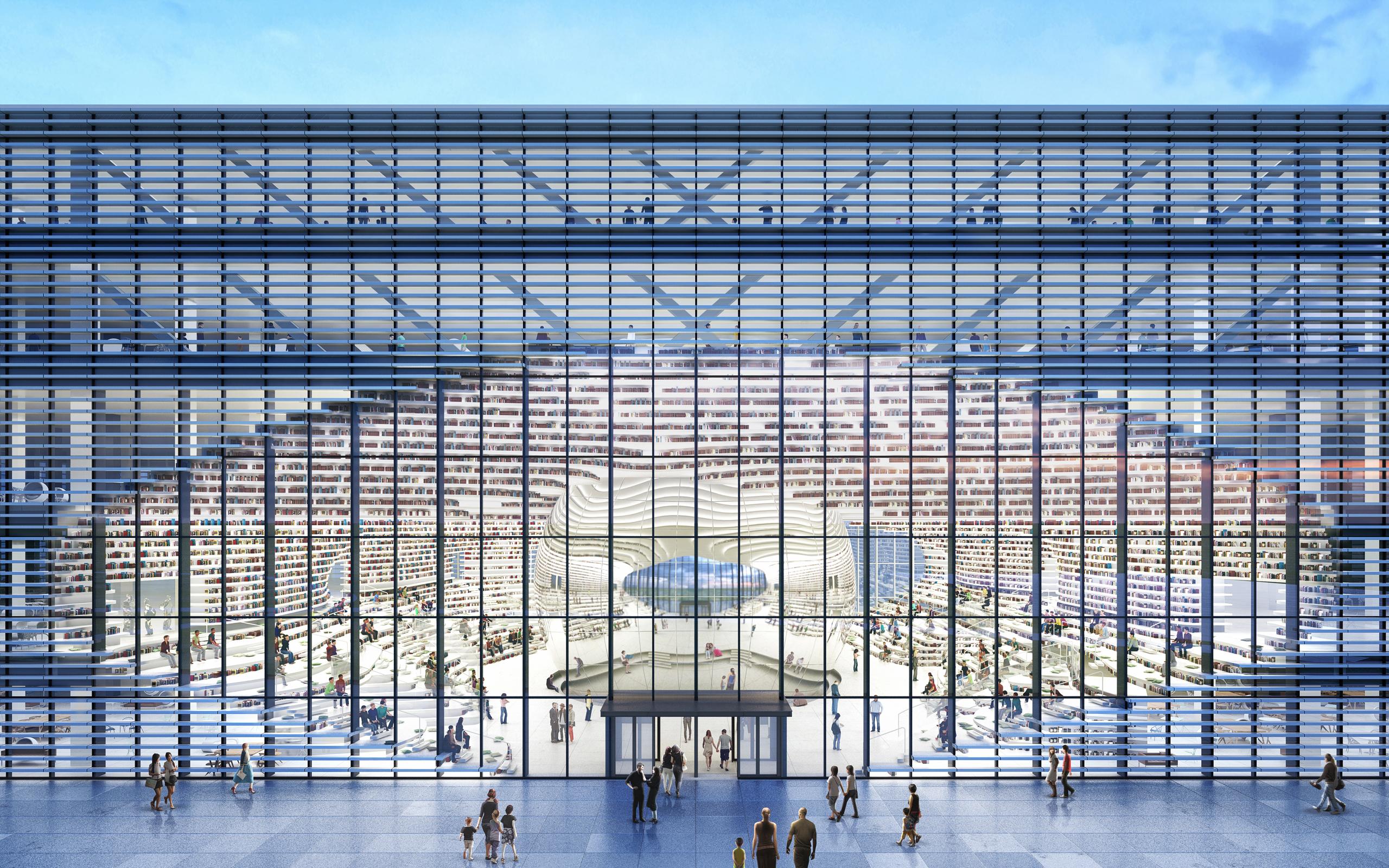 کتابخانه ی تیانجین بینهای جالب ترین کتابخانه ی دنیا