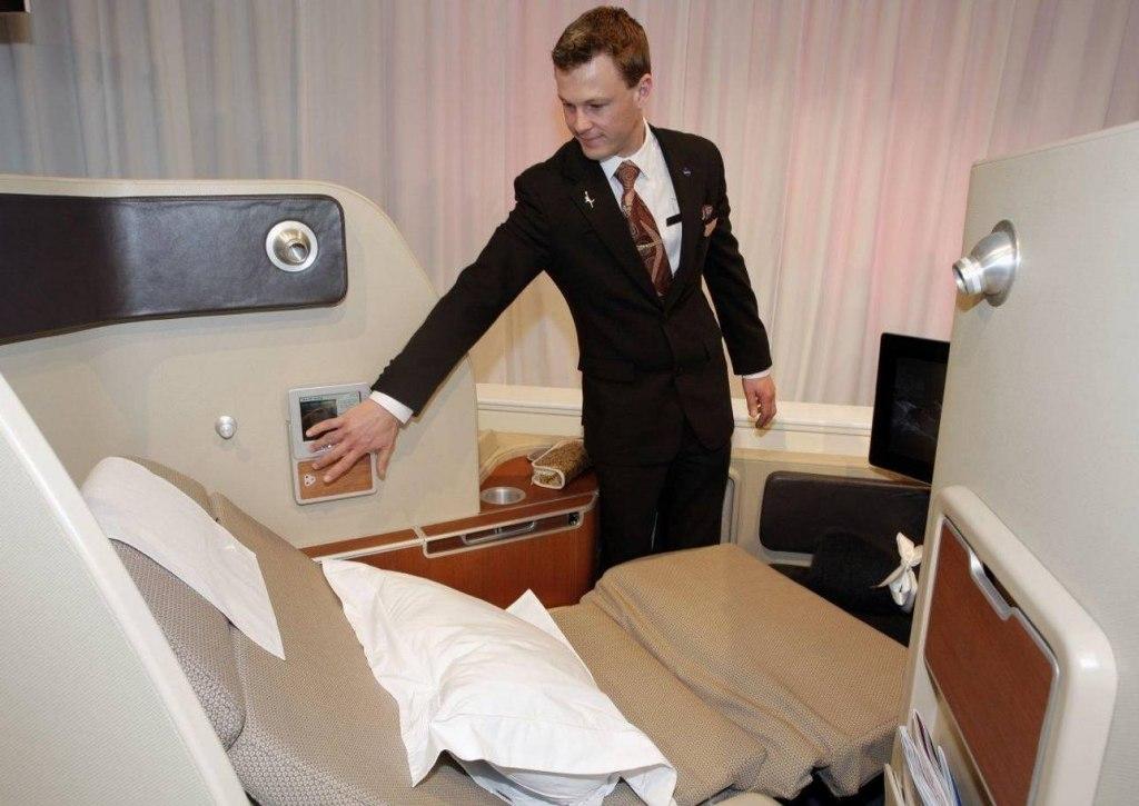 سویت کامل در هواپیما با تخت خواب رویایی