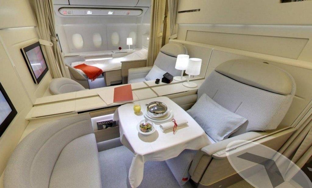 هواپیمایی با تخت خواب و امکانات ویژه برای مسافرین