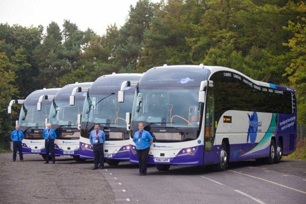استفاده از اتوبوس در فرودگاه گلاسکو