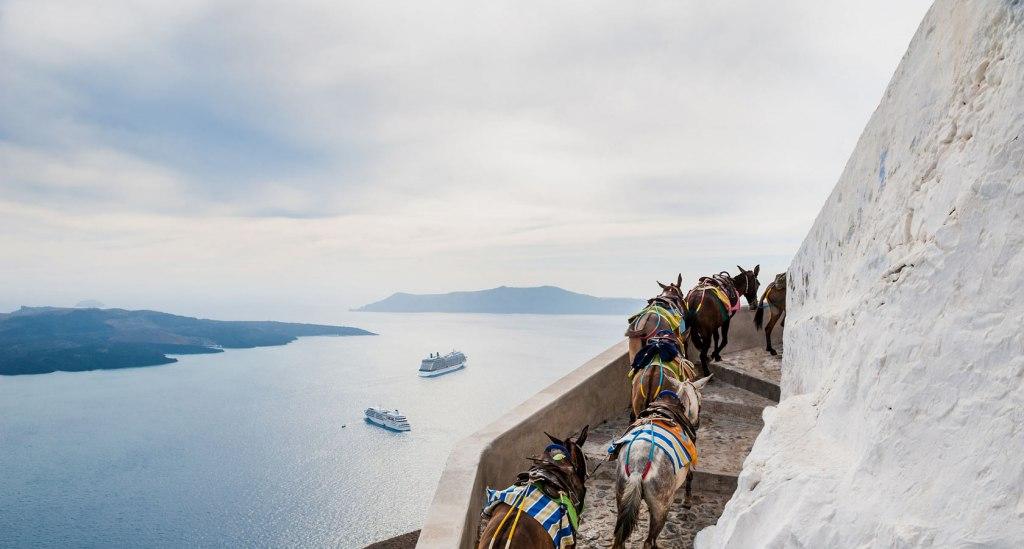اسب سواری در جزیره سانتورینی