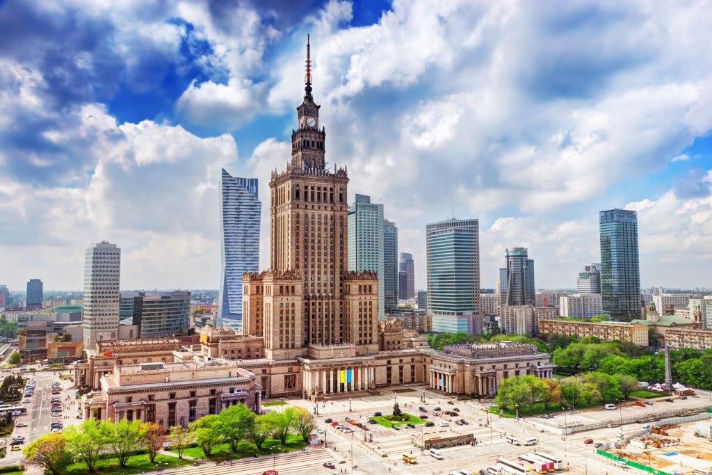 شهر ورشو در کشور لهستان