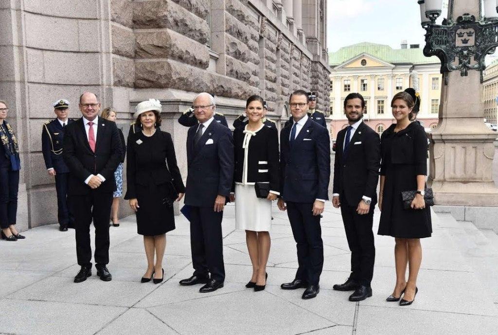 شرکت خانواده سلطنتی در مراسم افتتاحیه پارلمان سوئد