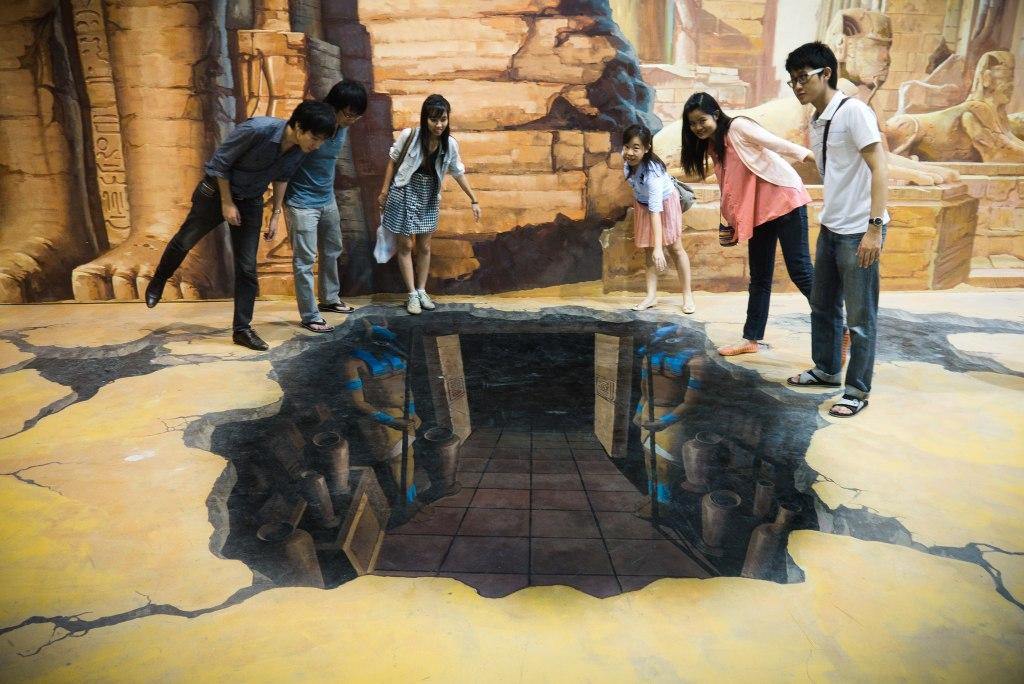 گالری هنر در بهشت پاتایا با نقاشی های سه بعدی