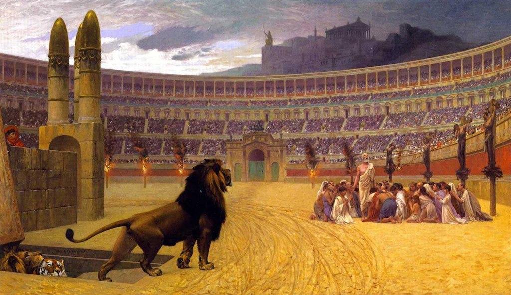 در کولوسئوم روم چه مسابقاتی انجام می شد؟