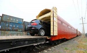 حمل خودرو با قطار