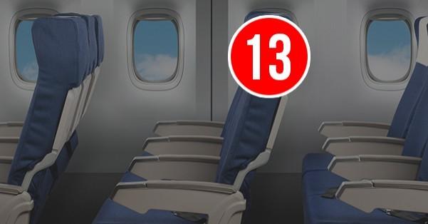 چرا هواپیماها ردیف 13 ندارند؟
