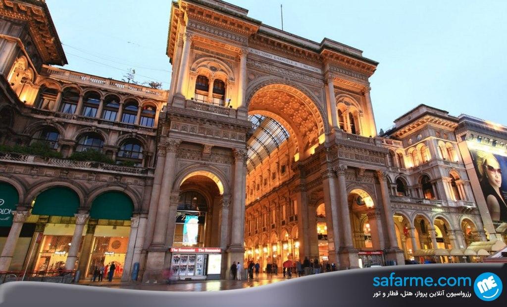 گالری ویتوریو امانوئل | Galleria Vittorio Emanuele II