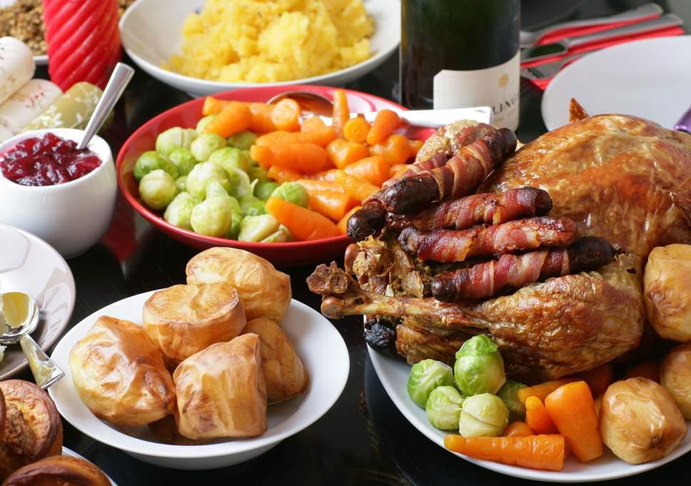 غذای کریسمس در انگلستان