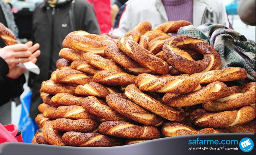 سیمیت در ترکیه | Simit bread