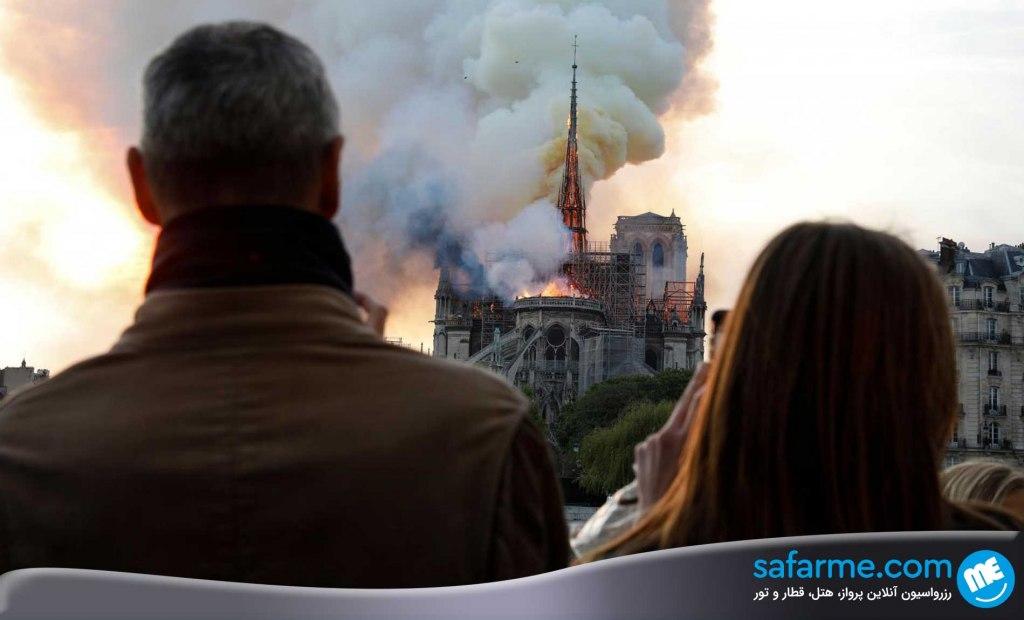 آتش سوزی نوتردام پاریس