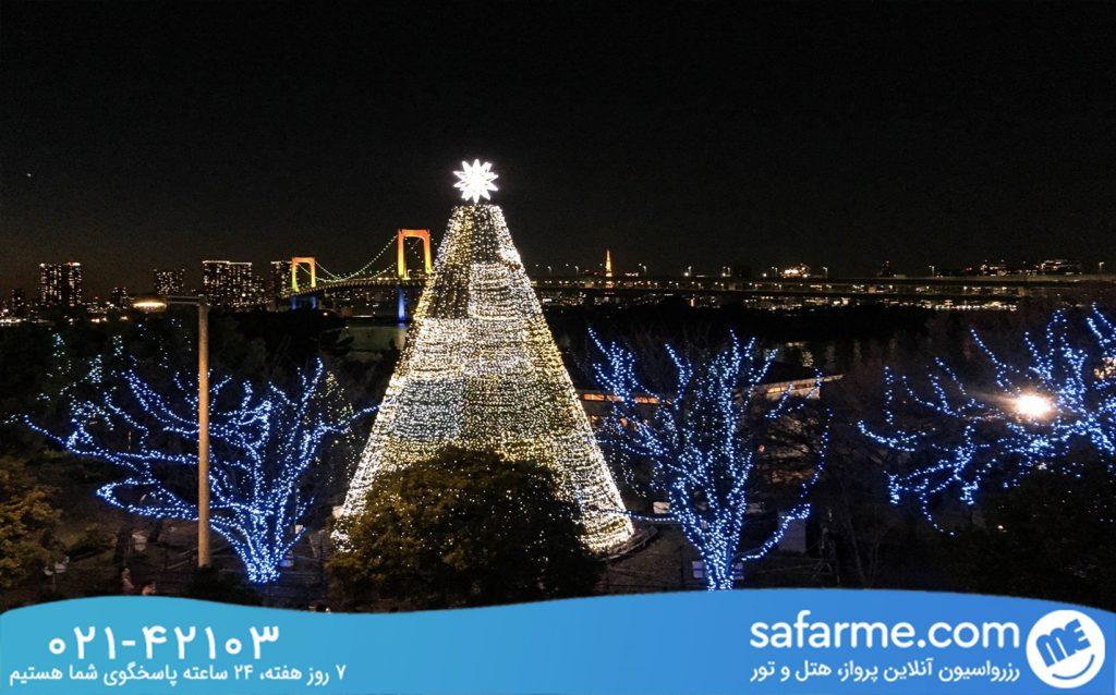 فستیوال روشنایی در اودایبا توکیو