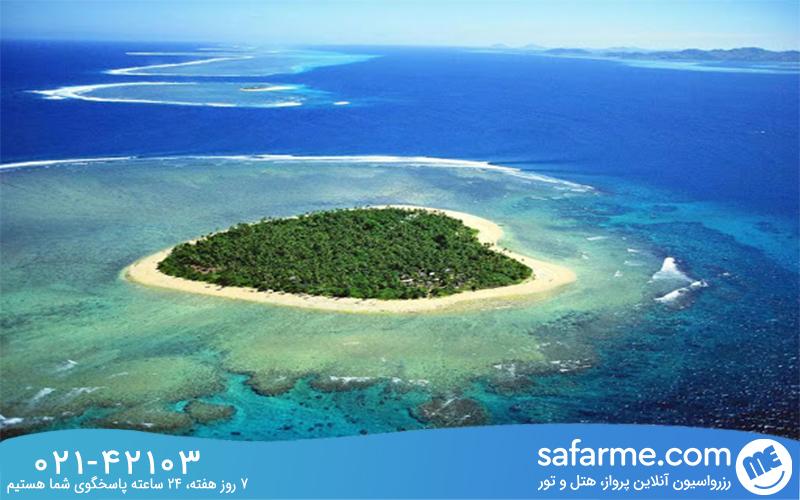 تماشای سواحل زیبای فیجی