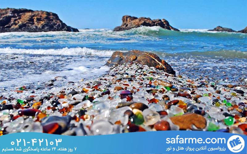 علت وقوع و به وجود آمدن سواحل شیشه ای چیست؟