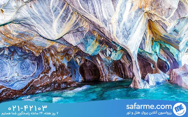 ویژگی های غار مرمر شیلی