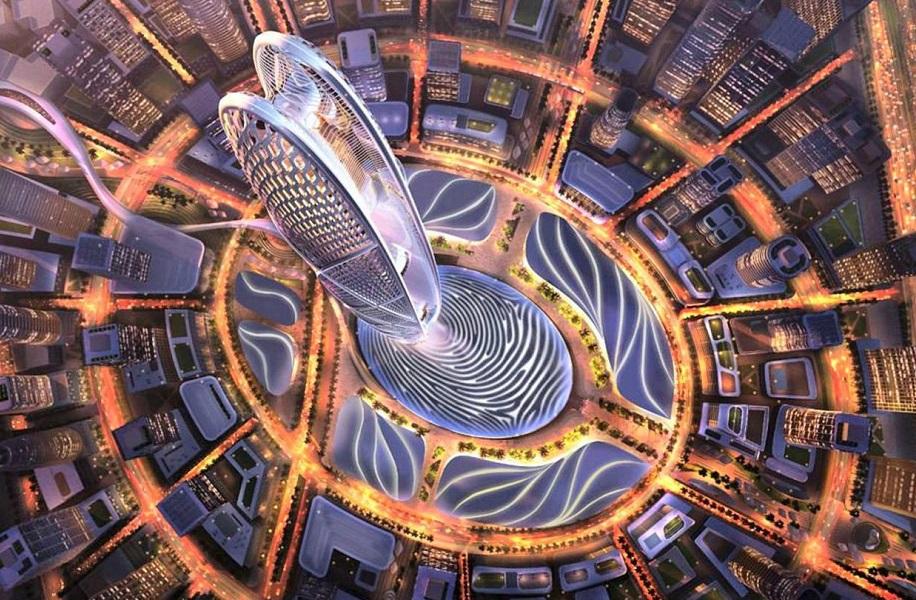 نمایی از پروژه جدیدترین برج دبی
